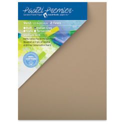 Hand Book Paper Co. Pastel Premier Conservation Panel - 9'' x 12'', Italian Clay, Pkg of 2
