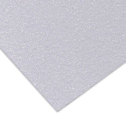 Paper Accents Glitter Cardstock - White, 8-1/2'' x 11'', Pkg of 5 Sheets