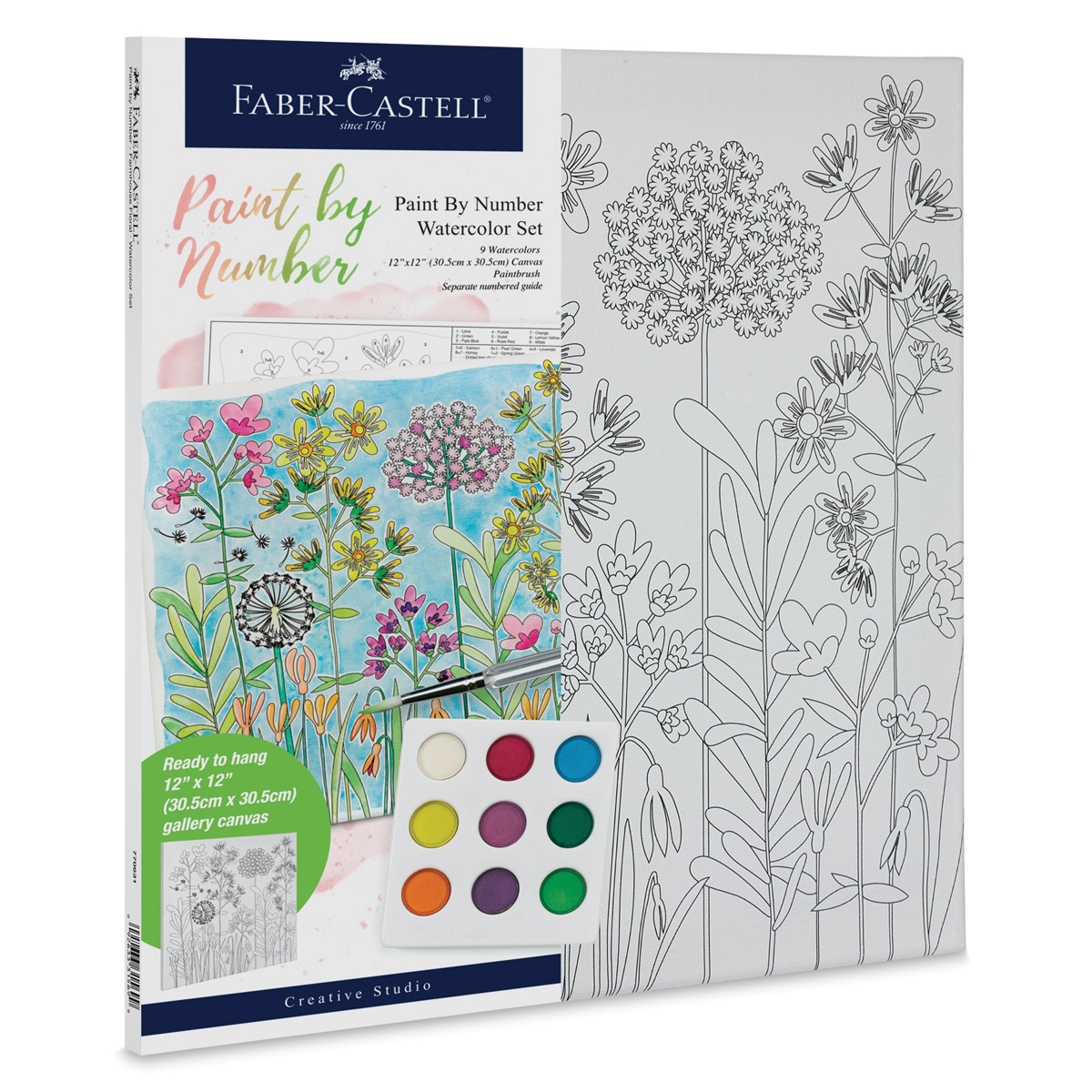 Faber-Castell Creative Studio Watercolor Paint By Numbers Sets