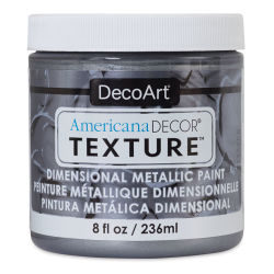 DecoArt American Decor Texture Paint - Zinc Metallic, 8 oz