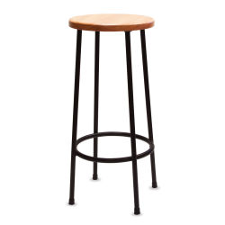Richeson Lyptus and Steel Stool - 30'' High