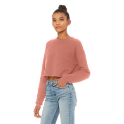 Bella Canvas Cropped Crew Fleece - Mauve, Small