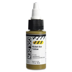 Golden High Flow Acrylics - Nickel Azo Yellow, 1 oz bottle