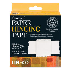 "Lineco Gummed Paper Hinging Tape - 1"" W x 130 ft L (In packaging)"
