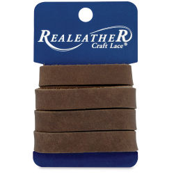 Realeather Leather Strip - Brown, 1/2'' x 36''