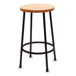Richeson Lyptus and Steel Stool - 24'' High
