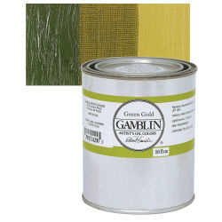 Gamblin Artist's Oil Color - Green Gold, 16 oz can