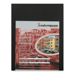 "Inkpress Cold Press 300 Paper - 8-1/2"" x 11, 300 gsm"