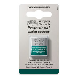 Winsor & Newton Professional Watercolor - Cobalt Green Deep, Half Pan