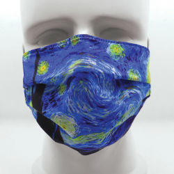 Today Is Art Day Reversible Face Masks- Starry Night/Almond Blossom