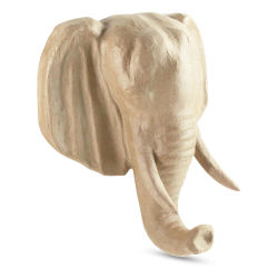 DecoPatch Paper Mache Animal Head Trophy - Elephant