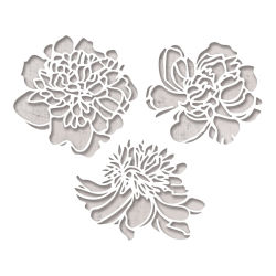 Sizzix Thinlits Dies - Cutout Blossom Dies by Tim Holtz, Set of 3