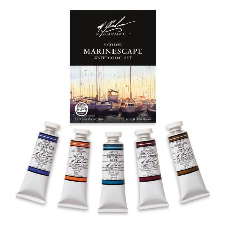 M. Graham Artists' Watercolor Set - Marinescape Set