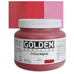 Golden Heavy Body Artist Acrylics - Primary Magenta, 32 oz Jar