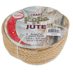 Pepperell Craft Natural Jute Craft Rope - 3/8'' x 100 ft