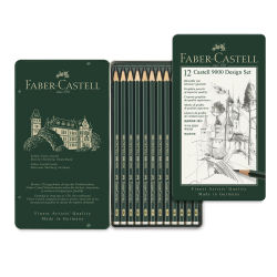Faber-Castell 9000 Pencil Set - Drawing Design Set of 12