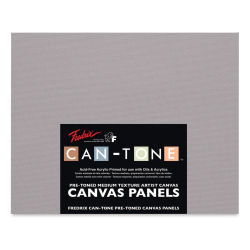 Fredrix Can-Tone Pre-Toned Canvas Panels - Tara Gray, 16'' x 20'', Pkg of 3