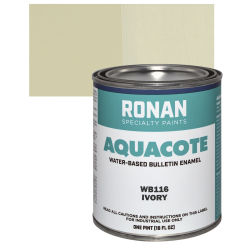 Ronan Aquacote Water-Based Acrylic Color - Ivory, Pint