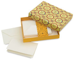 Fabriano Medioevalis Reply Cards and Envelopes - 3-1/2'' x 5-1/4'', Folded, Box of 20