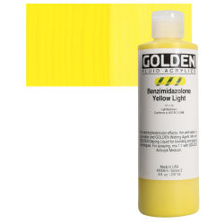 Golden Fluid Acrylics - Benzimidazolone Yellow Light, 8 oz bottle