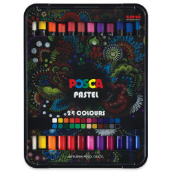 Uni Posca Wax Pastels, Set of 24