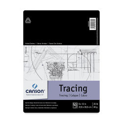 Canson Foundation Series Tracing Pad - 9'' x 12'', 50 Sheets