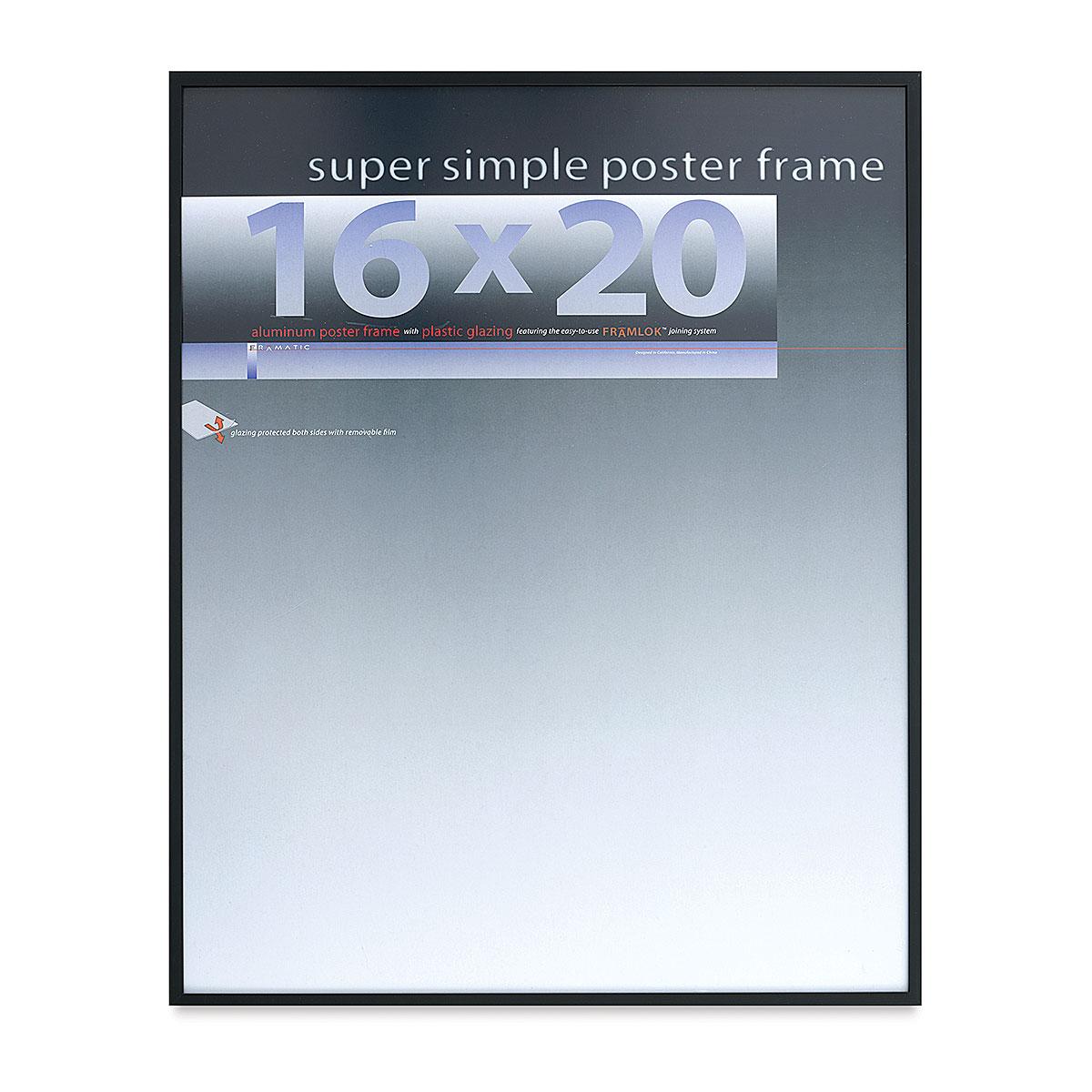 Framatic Super Simple Poster Frame - Black, 16 x 20