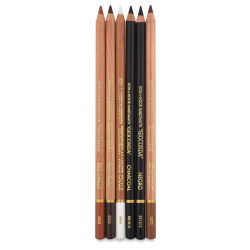 Koh-I-Noor Gioconda Artist's Charcoal Pencils - Set of 6