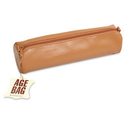 Clairefontaine Round Leather Pencil Case - Tan