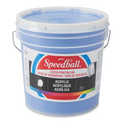 Speedball Permanent Acrylic Screen Printing Poster Ink - Ultra Blue, Gallon