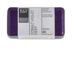 R&F Encaustic Paint Block - Cobalt Violet Deep, 40 ml block