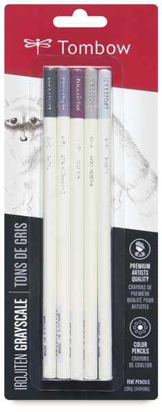 Colorpencil Set of 5, Cool Gray