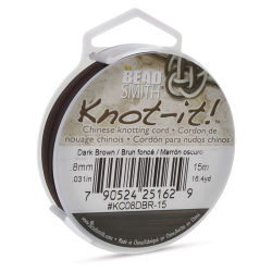 Beadsmith Chinese Knotting Cord - Dark Brown