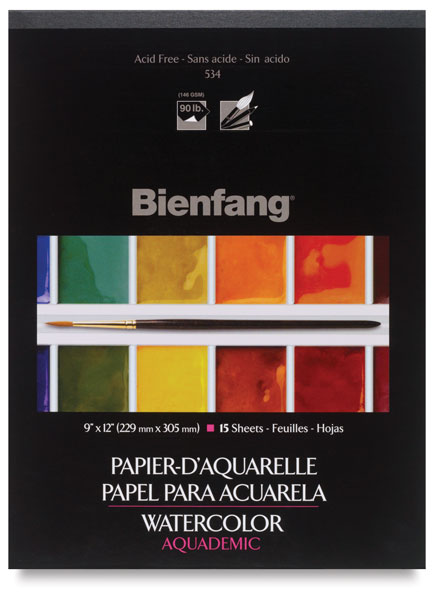 15 Sheets Bienfang Watercolor Paper Pad 11-Inch by 15-Inch