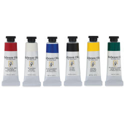 Shiva Signature Artist Oil Colors - Basic Set, Assorted colors, set of 6, 1.25 oz tubes