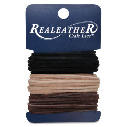 Realeather Suede Lace Variety Pack - Black/Cafe/Sand