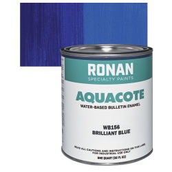 Ronan Aquacote Water-Based Acrylic Color - Brilliant Blue, Quart