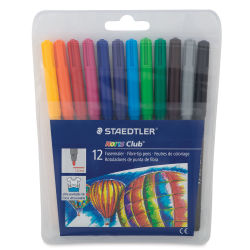 Staedtler Noris Club Fiber Tip Markers - Set of 12