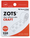 Therm-O-Web Large Craft ZOTs Adhesive Dots - Clear, Large, Pkg of 250
