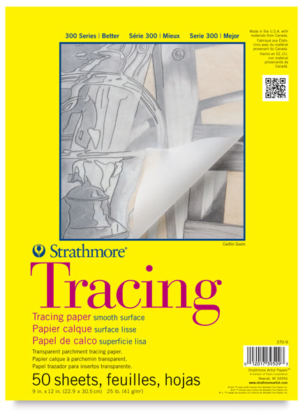 Strathmore 300 Series Tracing Paper - 9'' x 12'', 50 Sheets