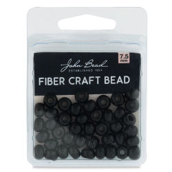John Bead Fiber Craft Beads - Black