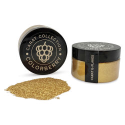 Colorberry Carat Collection Dry Resin Pigment - G-Flakes, 50 g, Jar (Shown in and out of jar)