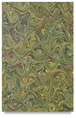 Books by Hand Marbled Paper - 12'' x 19'', Green