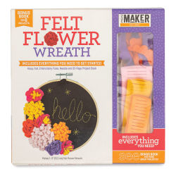 Leisure Arts Mini Maker Felt Flower Wreath Kit (Front of packaging)