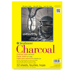 Strathmore 300 Series Charcoal Pad - 9'' x 12'', Glue Bound, 32 Sheets, 64 lb (95 gsm)