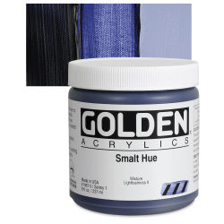 Golden Heavy Body Artist Acrylics - Smalt Historic Hue, 8 oz Jar