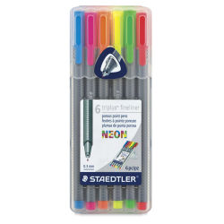Staedtler Triplus Fineliner Pen - Neon Colors, Set of  6