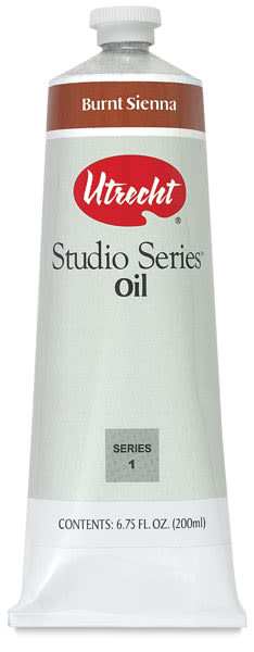 Utrecht Studio Series Oil Paint - Burnt Sienna, 200 ml tube