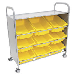 Gratnells Callero Plus Tilted Tray Cart - Sunshine Yellow