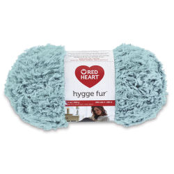 Red Heart Yarn Hygge Fur - Eucalptus